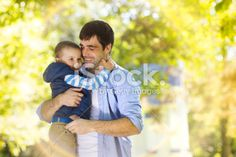 Father and son in nature Royalty Free Stock Photo