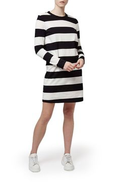 Topshop Boutique Wide Stripe T-Shirt Dress