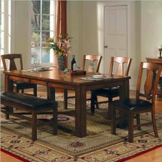 Steve Silver Lakewood Dining Table Set - Are you looking to create a cozy, comfy feel in your dining room? We've found the perfect way to achieve that with our Steve Silver Lakewood Dining. Dining Furniture Makeover, Contemporary Dining Furniture, Dining Table Setting, Rustic Dining Furniture, Furniture, Outdoor Dining Furniture, Dining Room Sets, Dining Furniture, Home Decor
