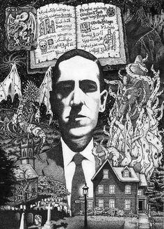H.P. Lovecraft - drawing by Conrad Ashley 1998
