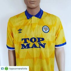 #Repost 1989 Leeds United away shirt from @topcornershirts #topman #leeds #leedsunited #lufc #umbro #umbrofootball #football #footballshirt #footballshirtcollective