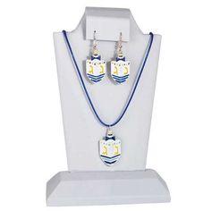 Chanukah Dreidel Necklace & Earrings