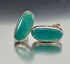 Nabiho Sterling Silver Navajo Turquoise Earrings
