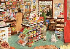 The Village Shop by Tracy Hall 1000 piece jigsaw puzzle Canada | CanadaPuzzles.ca