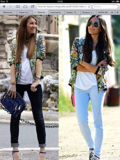 Capri Pants, Bomber Jackets, Image, Fashion, Moda, Capri Trousers, Fashion Styles, Bomber Jacket, Fashion Illustrations
