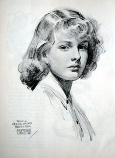 William Andrew Loomis--Sketch Of My Daughter