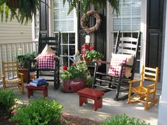 My Greatest Treasures: June 2010.... I love this porch especially the little rockers!