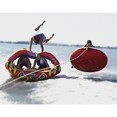 One of our favorite tubing action shots! These guys have too much fun on the water.