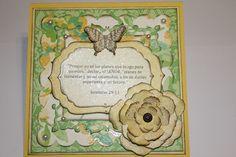 6x6 Greeting Card - Bible Verse / Sympathy Card / Spellbinder Dies / Spanish