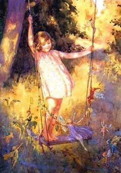 Illustrations de Margaret W- Tarrant...Fairies enjoying the swig:):)