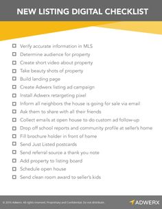Real Estate Checklist | Listing | Real Estate Forms | Realtor ...