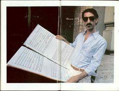 Frank Zappa and music score.