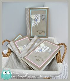 Some notebooks I decorated Stampin' Up! style!