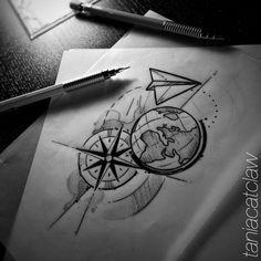 Zeichnrn - Zeichnrn - tattoo designs ideas männer männer ideen old school quotes sketches Small Drawings, Pencil Art Drawings, Art Drawings Sketches, Tattoo Sketches, Cute Drawings, Tattoo Drawings, Anime Tattoos, Body Art Tattoos, Tatoos