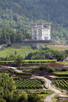 Castello di Aymavilles, dates back to de 12th century, in Aosta-Aoste, Val d'Aosta_ Italy