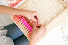 Weaving KIT with Loom for Wall Hanging and door MaryanneMoodie