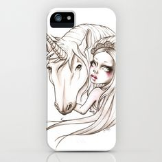 This one is really cute too!  Her first Unicorn iPhone Case by Sabrina Eras - $35.00