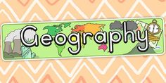 Geography Display Banner - geography, geography display