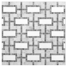 UNIQUE MOSAIC TILE PATTERNS - Rectangulum Mosaic in Carrara, Grey & Thassos Honed Finish. Small mosaic pieces are hand set to form a repeating rectagular pattern. Complete Tile Collection MI#: 039-S2-402-136 #MosaicTile