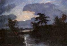 Otto Modersohn - Mondnacht im Teufelsmoor