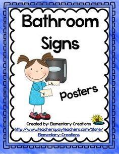 1000 images about kindergarten new classroom on for Bathroom signs for classroom