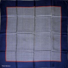 YSL Yves St Laurent silk scarf, white spots red square