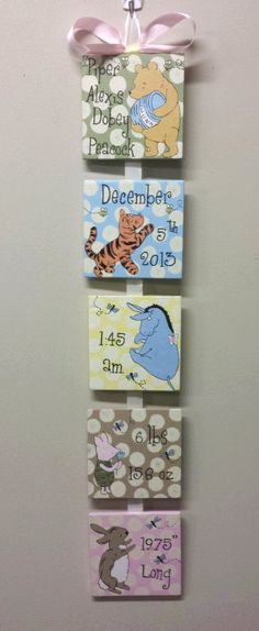 Winnie the Pooh Style Birth Announcement for by SimplySignsByJess, $50.00