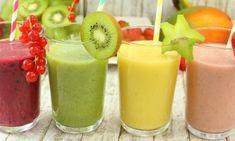 Fruchtsmoothie - vier Varianten