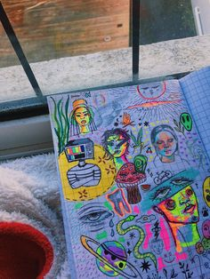 Cool Art Drawings, Art Drawings Sketches, Art Journal Inspiration, Art Inspo, Pretty Art, Cute Art, Dibujos Zentangle Art, Arte Grunge, Arte Sketchbook