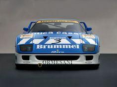 1991 Ferrari F40 GT Michelotto Racing Car: Le F40 était une machine simple qui, comme les plus grands Ferraris du passé, s'appuyait sur son moteur pour ses performances.