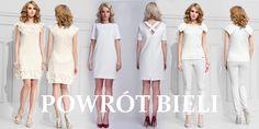 Ponownie witamy biel. Kolejna dostawa białych sukienek już dostępna. Cieszą oko ne tylko twarzowe fasony, ale również subtelne kobiece detale: falbanki, marszczenia, czy aplikacje. Uroczym kwiatkom nie możemy się po prostu oprzeć.