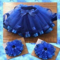 more like Sunday funday! Check out our blue on blue tutu! Tutu Diy, Diy Tutu Skirt, Tutu Skirt Kids, Ribbon Tutu, Fabric Tutu, Tutu Outfits, Kids Outfits, Little Girl Closet, Kids Frocks Design