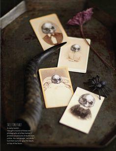 Rusty platter and oversized skulls