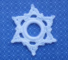 Whiskers & Wool: Six Point Snowflake Ring Ornament