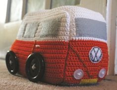 Camper-van Doorstop (Would make a great gift for my sister. She has a picture of herself as a toddler standing in front of our old VW van.)