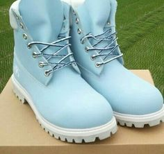 Sky blue boots
