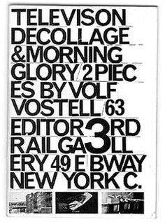 Wolf Vostell, «Television Décollage», 1963