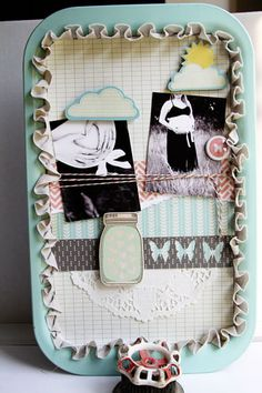 Altered Serving tray by Shelley Haganman (Scrapper girl)