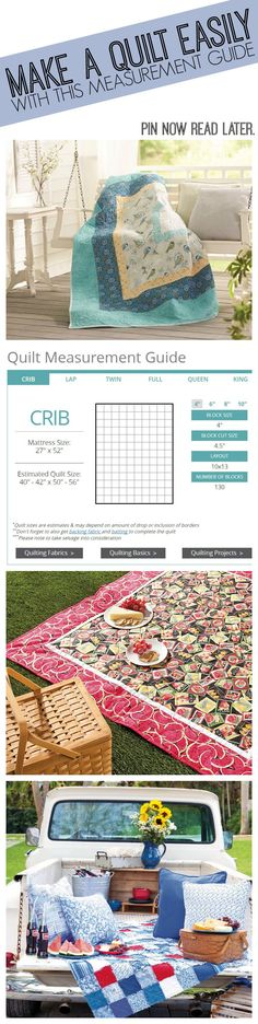 Start your next quilt with this easy to use measurement guide. This tool is perfect for a beginner to an expert! Pin now read later! | Quilting for Beginnners | Quilt Guide | Quilting Guide | Quilt Projects | How to make a quilt