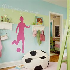 sports hand paintd personalized nursery / children's / kid's