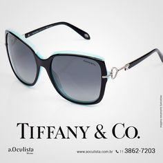 Óculos de Sol Tiffany&Co 😍  Compre pelo site em até 10x Sem Juros e Frete Grátis nas compras acima de R$400,00 reais.  www.aoculista.com.br/tiffany-co  #aoculista #Tiffany&Co #glasses #eyeglasses #óculos #óculosdegrau
