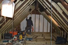 Carcassing in place - loft conversion W12