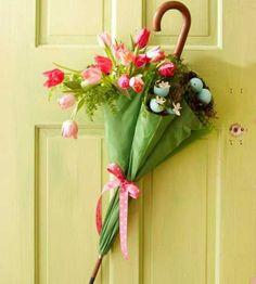 Easter Door Umbrella Decoration | 8 Awesome DIY Easter Decor Ideas