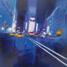L'oeuvre unique et originale New York Blue 2 a été réalisée par l'artiste Daniel Castan, qui réalise des peintures représentant souvent des grandes villes américaines, avec un style urbain très caractéristique, et une technique originale...