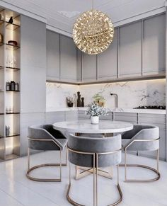 home accents bathroom dining room lighting, dining room lamp ideas, dining room decor, dining room designs Modern Kitchen Tables, Modern Kitchen Design, Interior Design Kitchen, Rustic Kitchen, Modern Design, Grey Interior Design, Kitchen Benches, Gold Interior, Modern Table