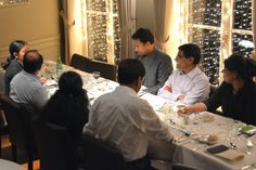 Business dinner at Hotel Navarra Bruges, on the occasion of a residential meeting. For more info ...  http://www.hotelnavarra.com/en/info/153/Meetings.html