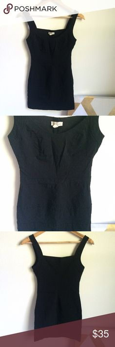 Bodycon Little Black Dress LBD Sexy black dress with ribbed details. Brand Silence and Noise from Urban Outfitters. In excellent condition! Ships within 24 hours. Urban Outfitters Dresses Mini