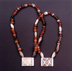 Mycenae - necklaces, Greece, ca. 1550-1450 BC, National Archaeological Archives, Athens, Greece.