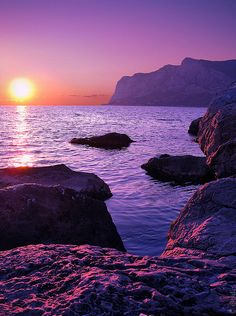 Sunset Over The Black Sea ~ by Andrey Permitin @ Flickr