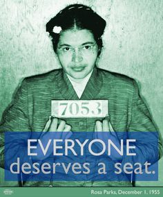 On this day in 1955, Rosa Parks got on a bus in Montgomery, Alabama. Her refusal to move to the back of the bus sparked a year-long boycott of the Montgomery bus system, and became an iconic moment in American history.  On the 59th anniversary of Parks' arrest on that fateful day, we're celebrating her valuable contributions as a lifelong activist, organizer, and leader of the the Civil Rights Movement.